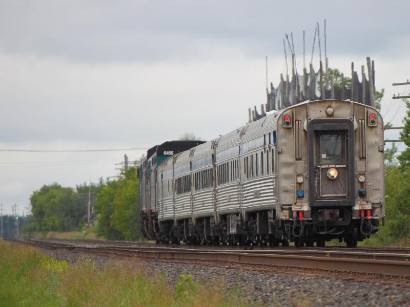 The VIA Rail Hudson Bay train leaves Winnipeg