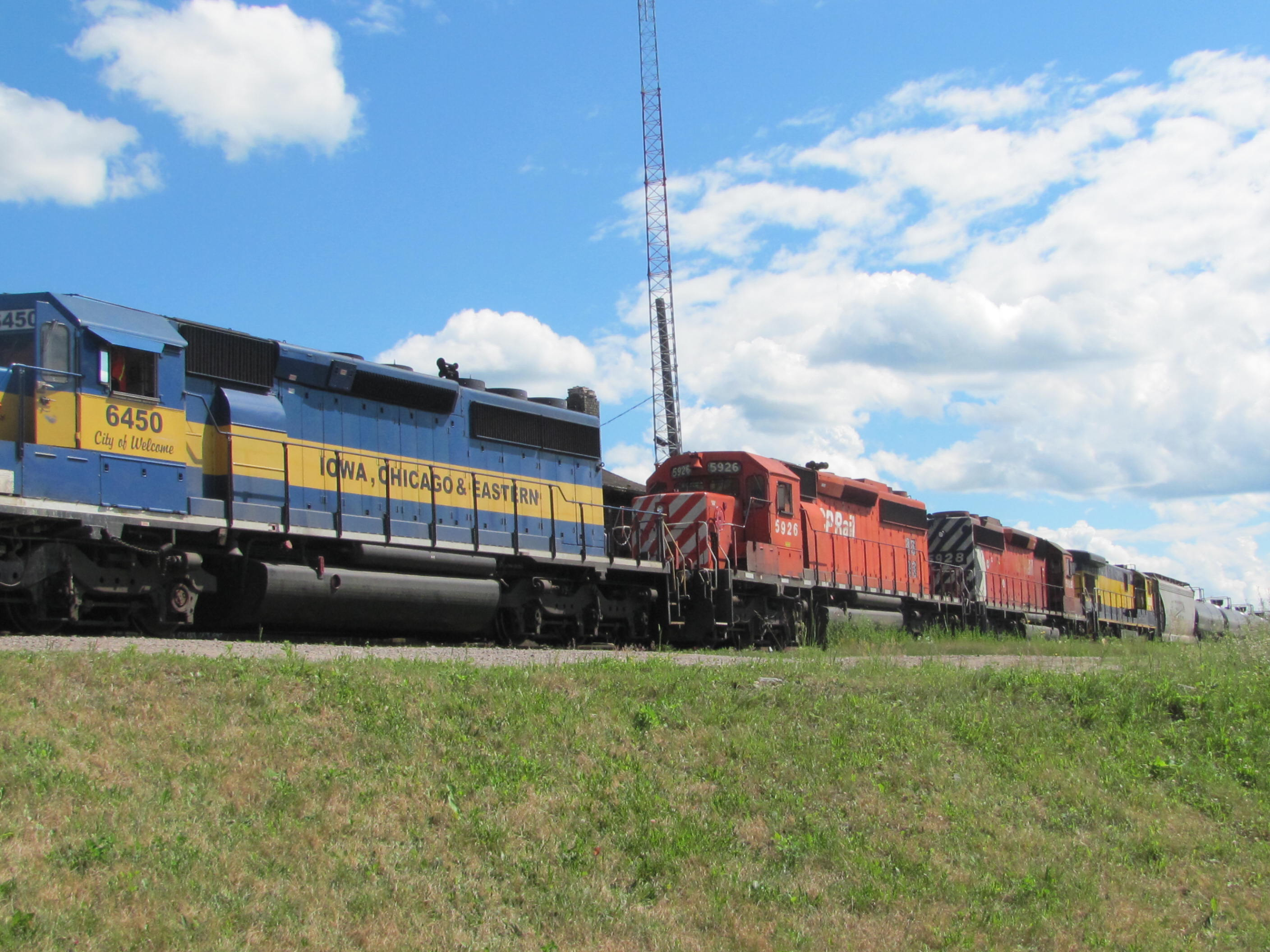 ICE 6450, CP 5926 and CP 5928 in McAdam, NB 2012/07/02 by Jody Robinson