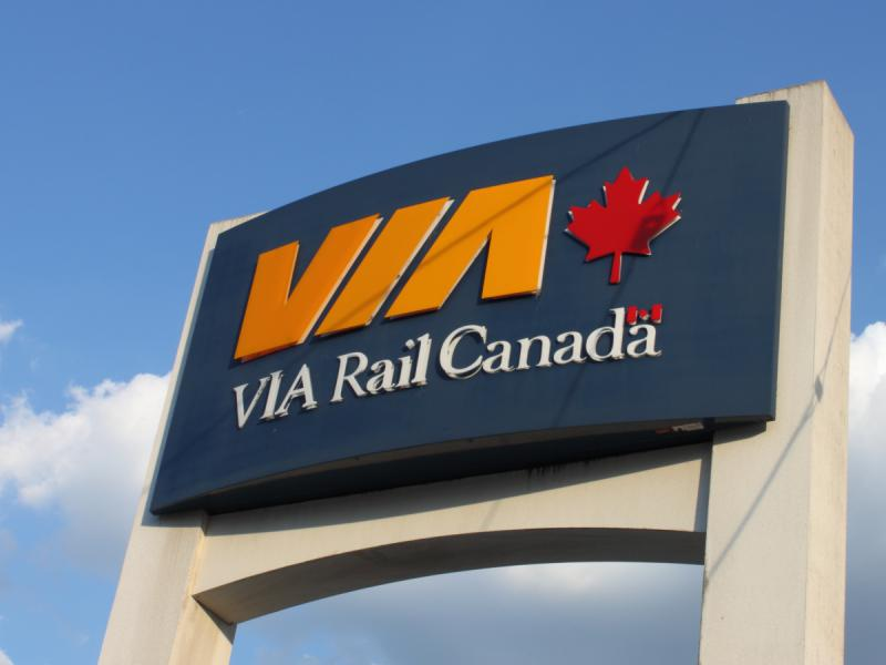VIA Rail sign in Windsor