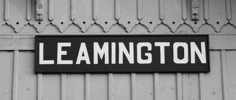 Leamington station sign