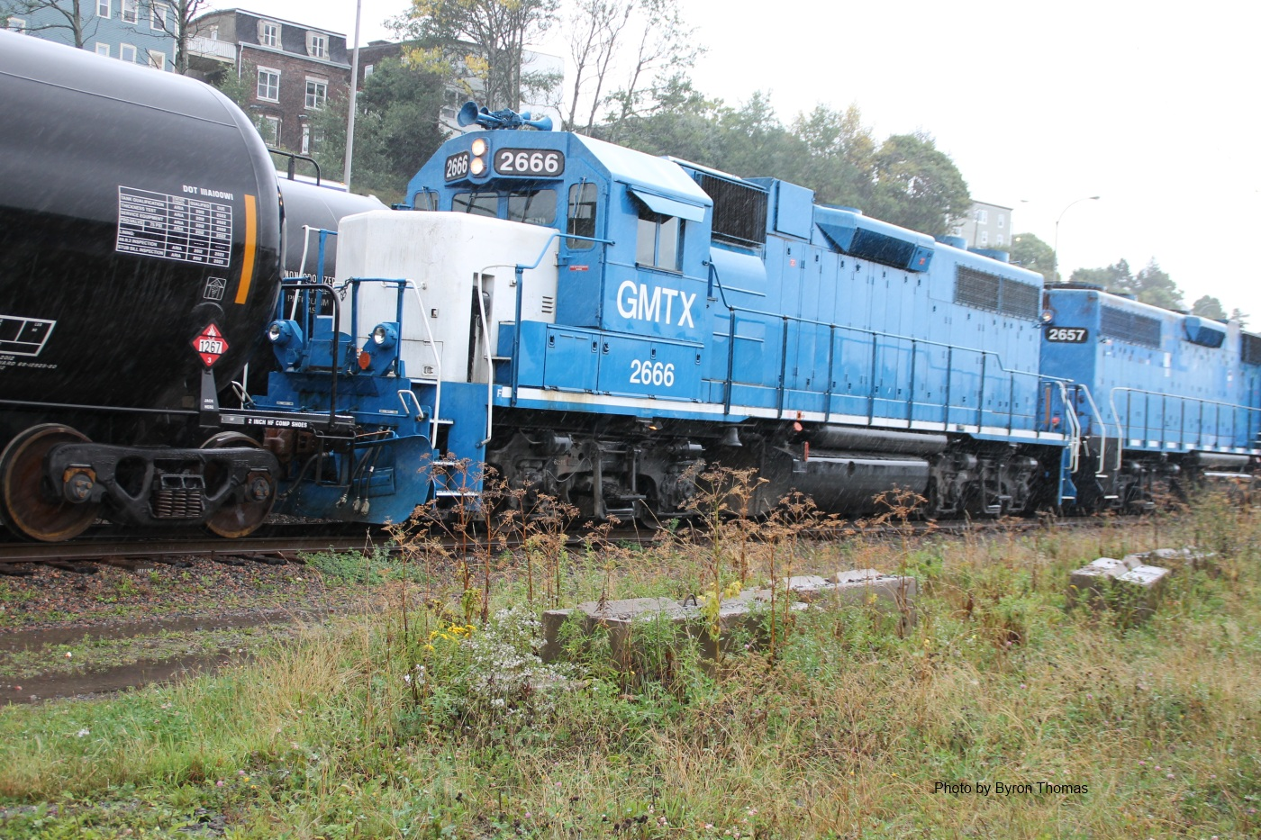 HLCX 2666 and 2657 in Saint John, NB 2012/09/05 by Byron Thomas