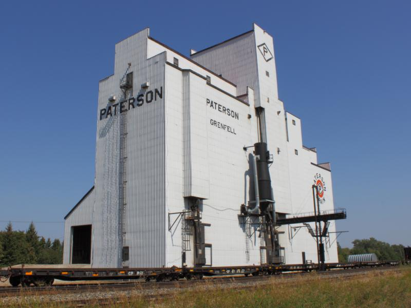 Grain elevator in Grenfell Saskatchewan