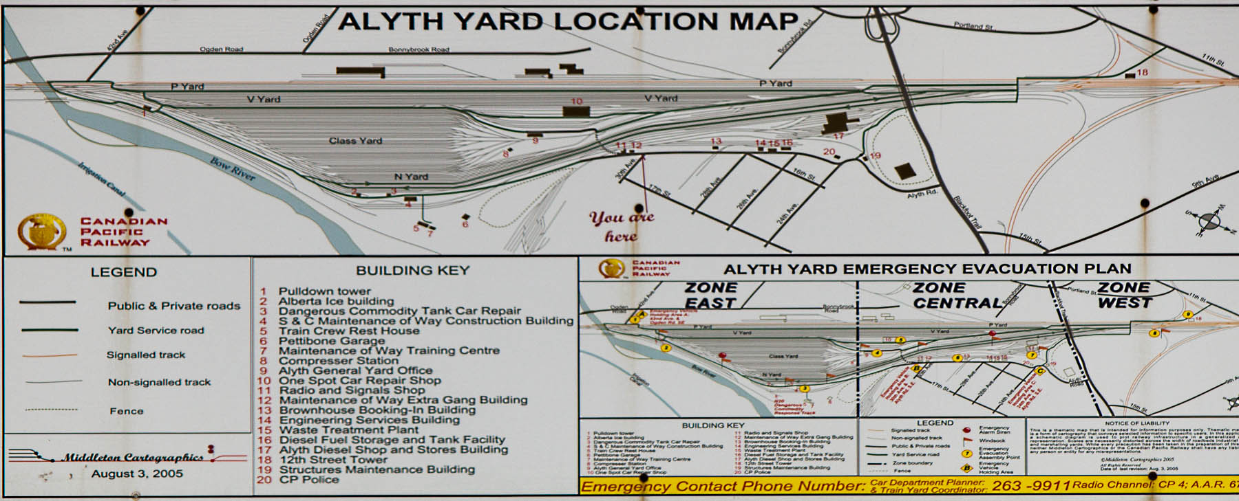 Alyth Yard map in Calgary, AB 2012/10/27