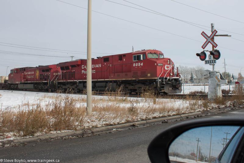 CP 8854 leaving Calgary