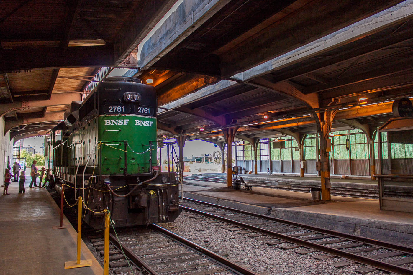 BNSF 2761 in the train shed in Winnipeg, MB 2012/09/15