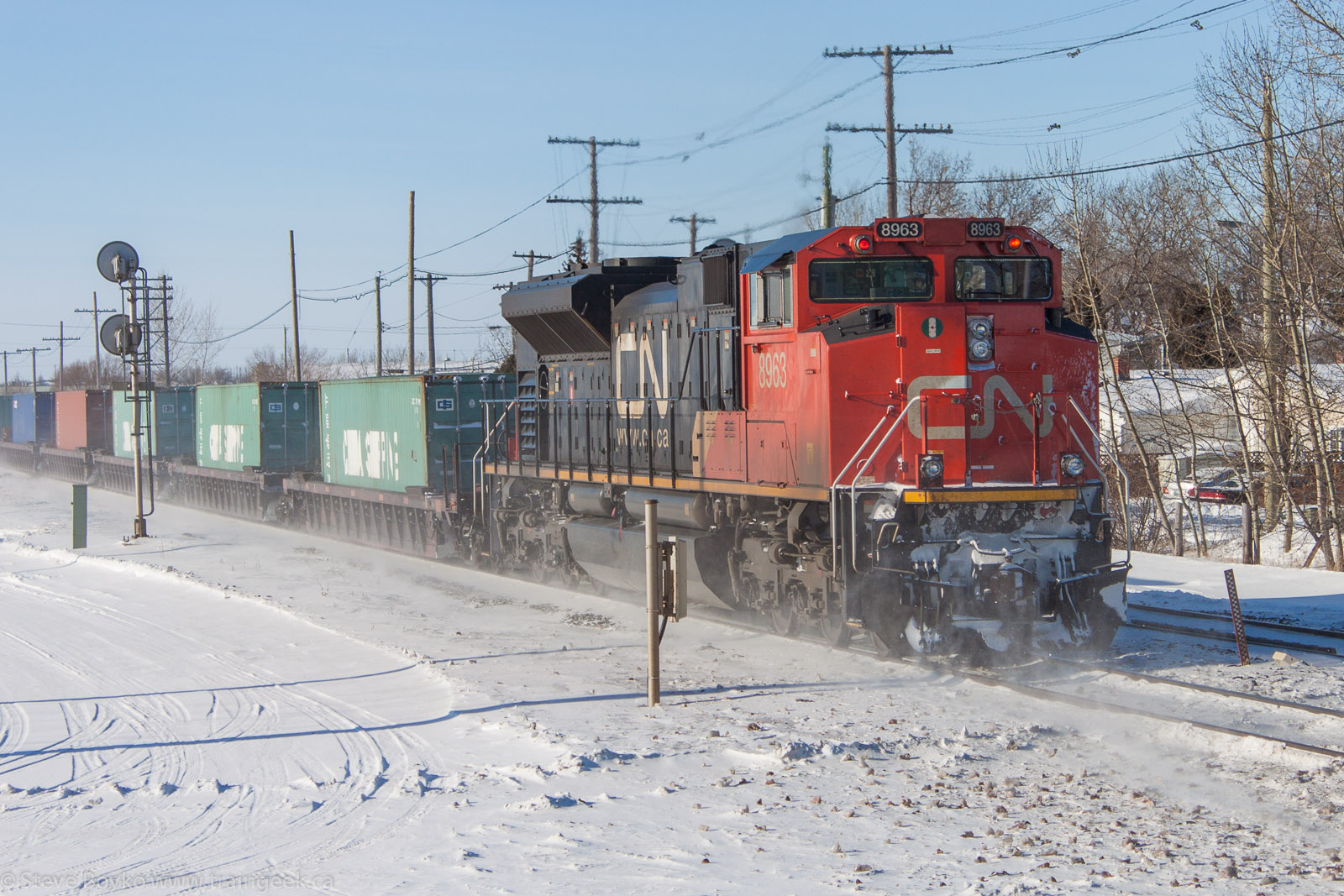 CN 8963 in Winnipeg, MB 2013/01/17