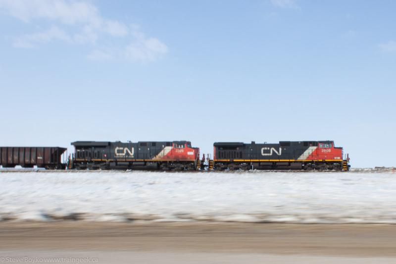 CN 2608 outside Winnipeg