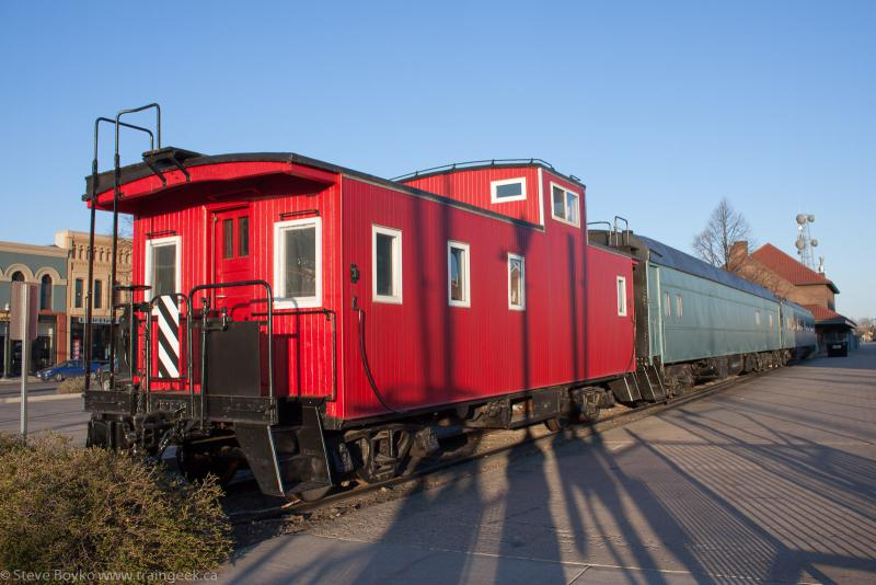 Caboose and Display Train in Fargo, ND