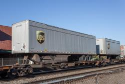 UPS trailers on a BNSF train in Fargo, ND 2013/05/12