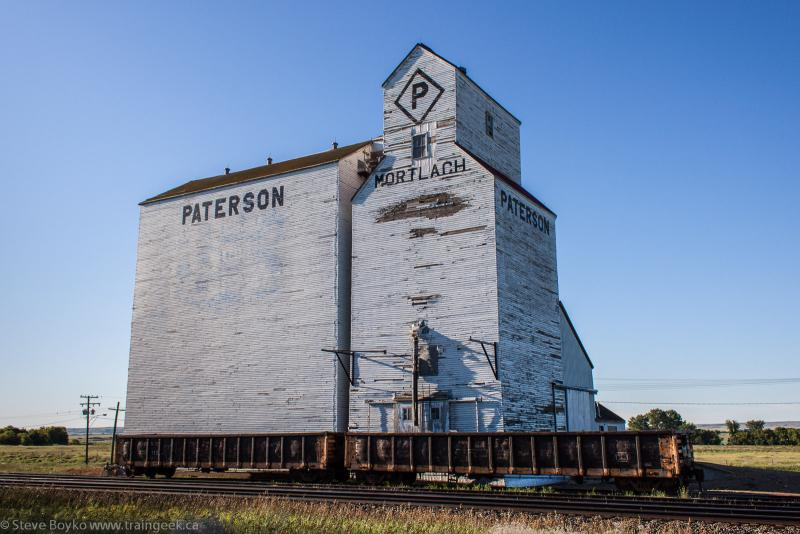 The grain elevator at Mortlach Manitoba