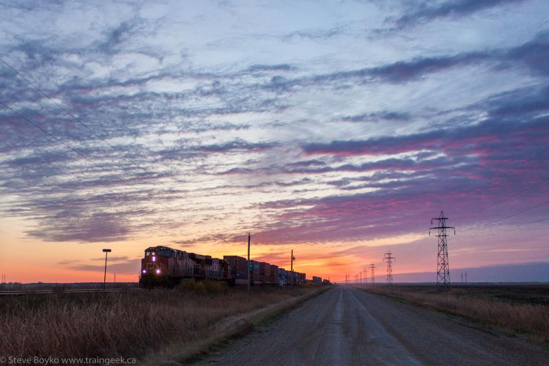 CN 2275 at sunrise, by Steve Boyko