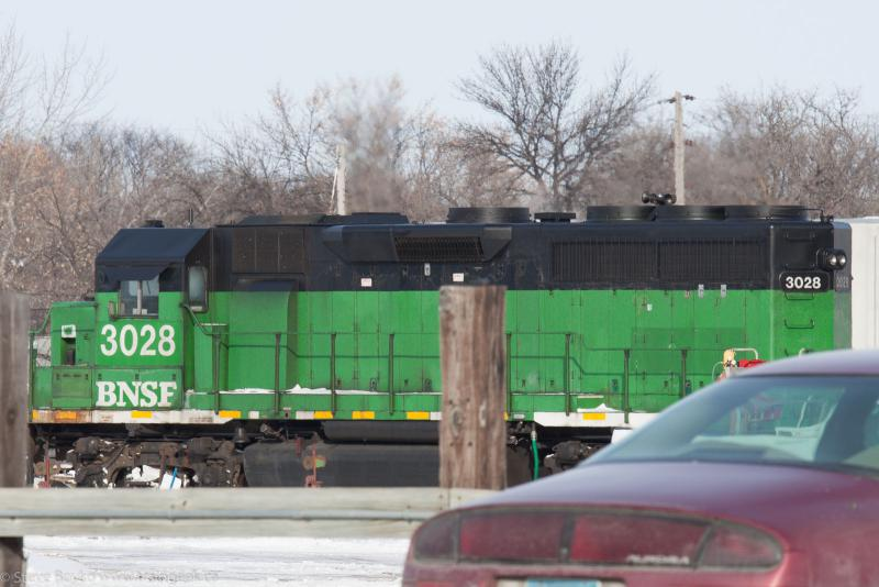 BNSF 3028 in Grand Forks