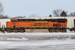 BNSF 7499 in Grand Forks, North Dakota 2014/02/16