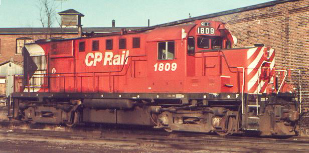 CP 1809 in Fredericton. Photo by Greg Brewer