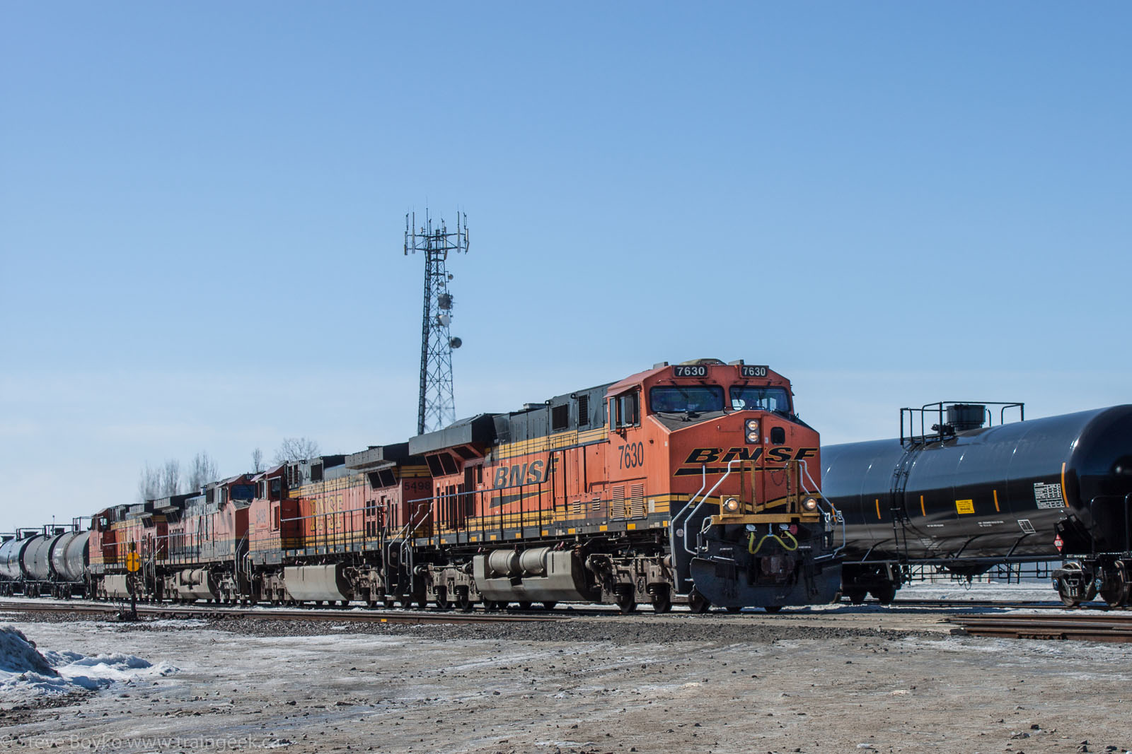 BNSF 7630 at Winnipeg, MB 2014/03/15