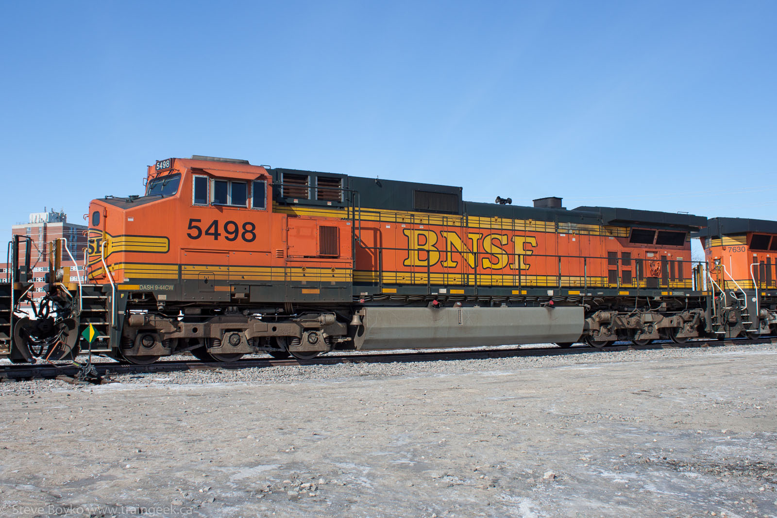 BNSF 5498 in Winnipeg 2014/03/15