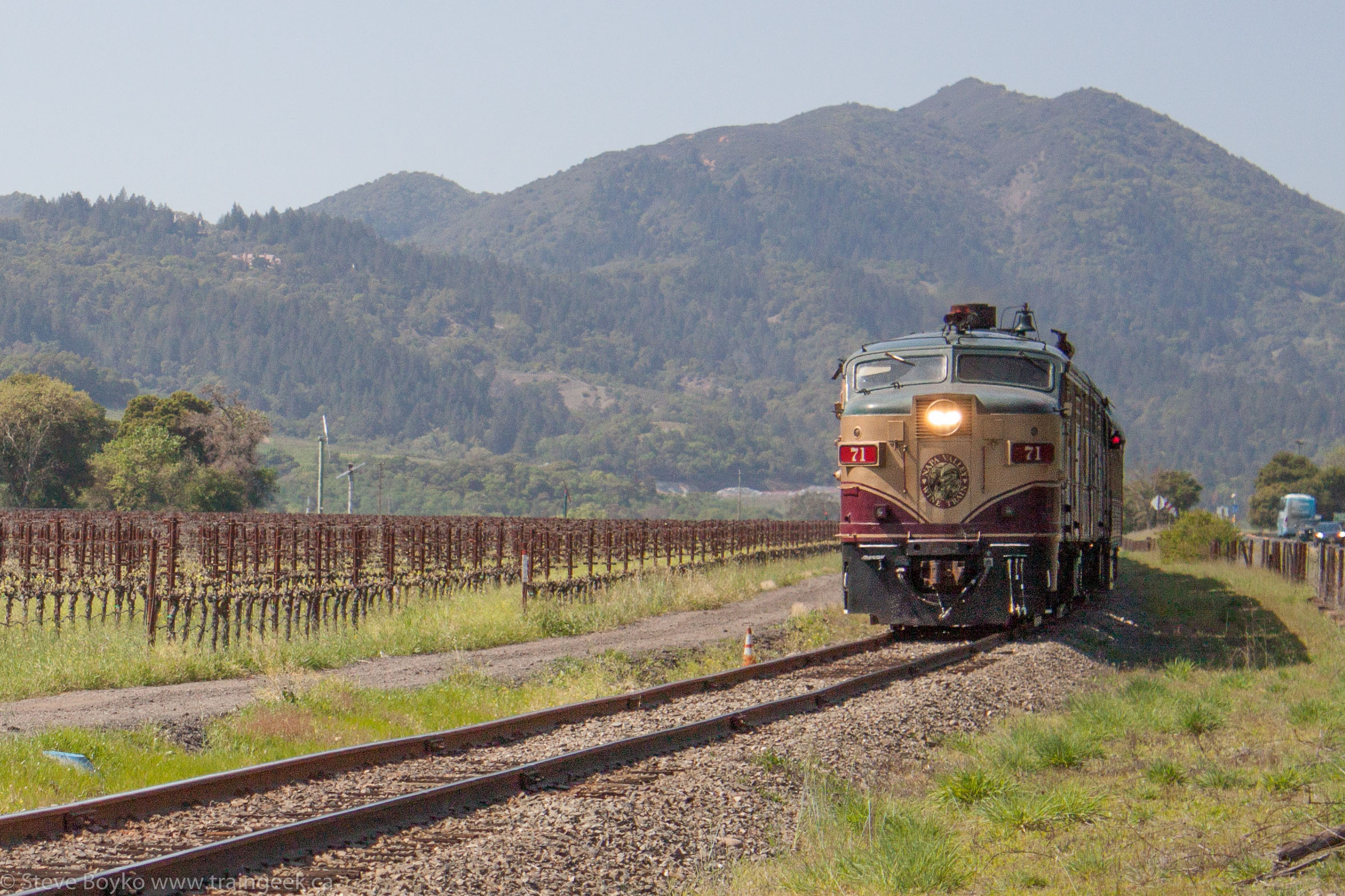 NVRR 71 leads the Napa Valley Wine Train