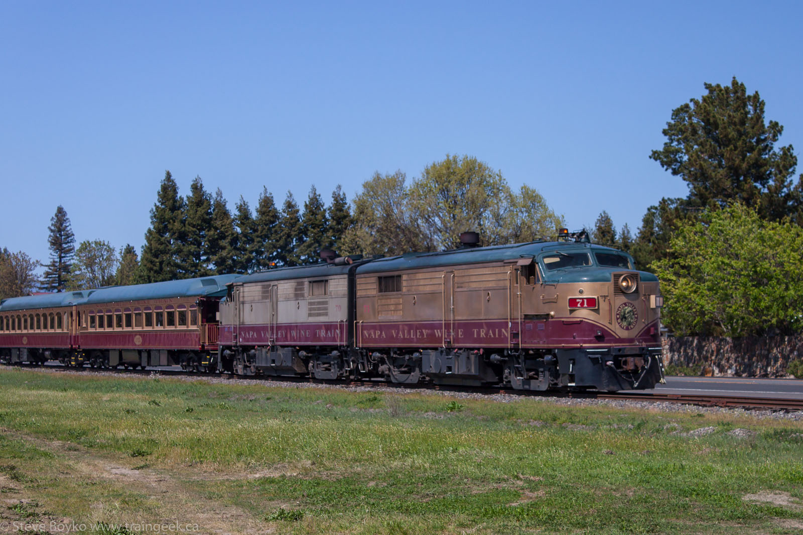 NVRR 71 and the Napa Valley Wine Train 2014/03/23