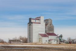 Weathered Sentinel. The Paterson grain elevator in Kane, Manitoba 2014/04/18