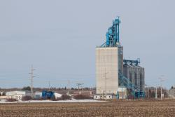 The Viterra grain elevator in Beasejour, MB 2014/04/27