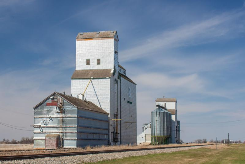 Cypress River grain elevators