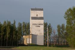 The Steele Bridge Farms grain elevator 2014/05/31