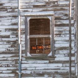 NO SMOKING at the Oberon grain elevator 2014/05/31