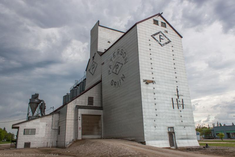 The Paterson grain elevator in Teulon, Manitoba.