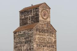 The former Federal grain elevator in Snowflake, MB 2014/07/20