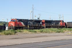 CN 2812 and 2831 in Prince George, BC 2014/06/25