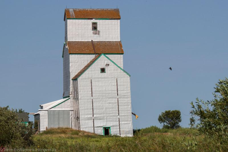 Grain elevator in Coulter, Manitoba