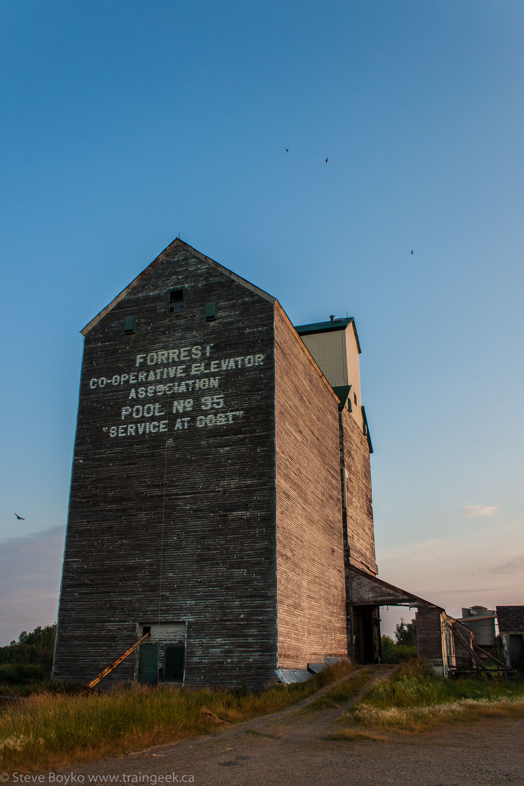 The Forrest, MB grain elevator 2014/08/04