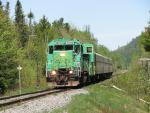 NBSR 9801 Excursion Train in Welsford siding, 2007/05/27