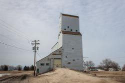 The Lowe Farm, MB grain elevator 2014/04/18