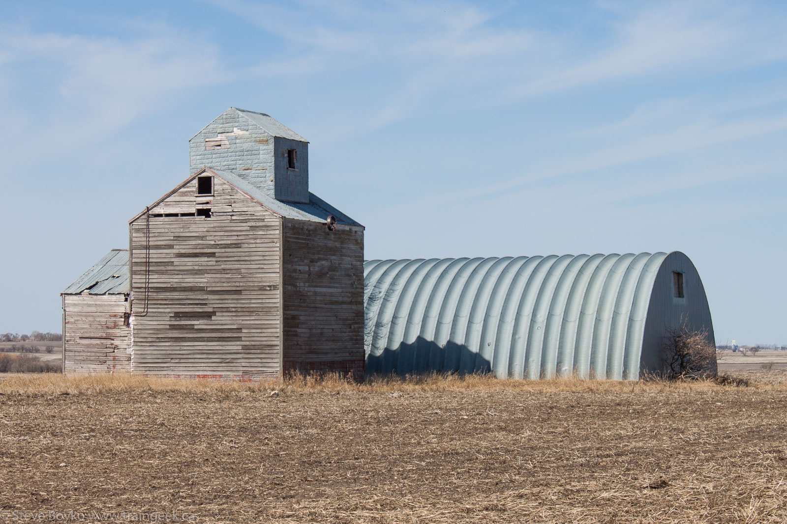 A miniature grain elevator near Holland, MB 2014/05/10