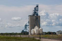 The Viterra grain elevator at Souris East, MB 2014/08/09