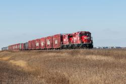 CP 2246 leading the Holiday Train near Meadows, MB 2014/11/14