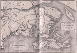 A map of the New Brunswick & Canada Railway from 1871