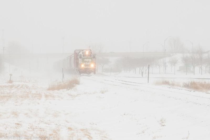 BNSF 3134 leaving Grand Forks, North Dakota 2015/02/15