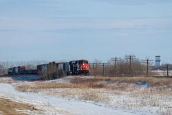 CN 2832 outside Dufresne, MB 2015/03/08