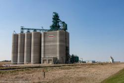 The Pioneer grain elevator outside Vulcan, AB 2016/05/15