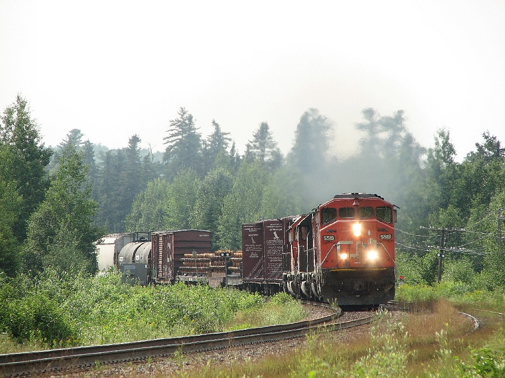 CN 5519 at Deersdale, NB 2007/08/03