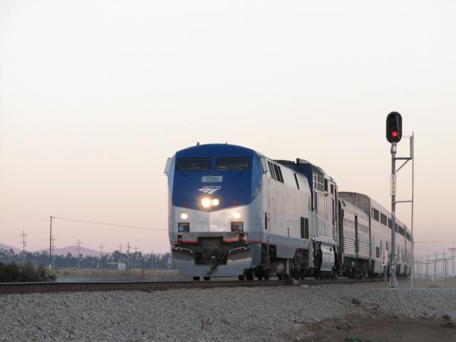 Amtrak's Coast Starlight in California