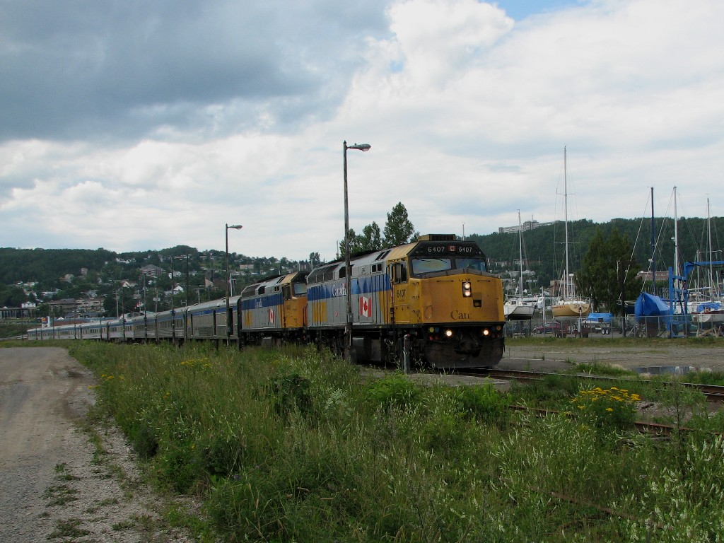 VIA 6407 at Gaspe, Quebec 2007/08/11