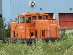 Abitibi-Price locomotive in Chandler, Quebec.