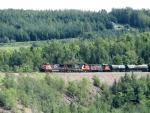 CN 2570, Salmon River trestle, NB 2007/08/12