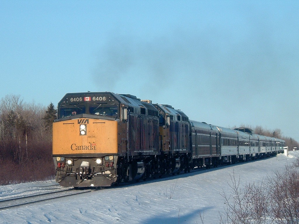 VIA 6406 at Belledune, NB 2008/02/22