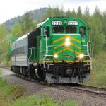 NBSR 2317 leaving Welsford, NB 2008/05/24