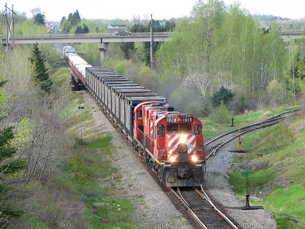 NBEC 1819 leaving Bathurst, NB 2008/05/26