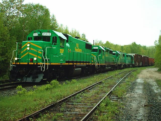 NBSR 2317 arriving at McAdam, NB 2008/05/31